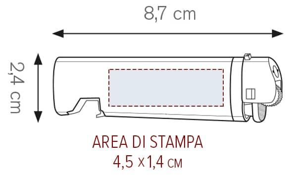 Accendino opener personalizzato area STAMPA VULCANO
