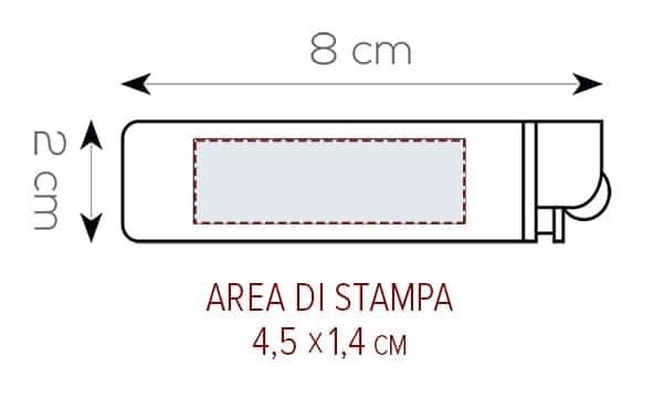Accendino personalizzato area STAMPA Flammy pe858