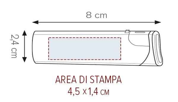 Accendino personalizzato area STAMPA PE864 bang