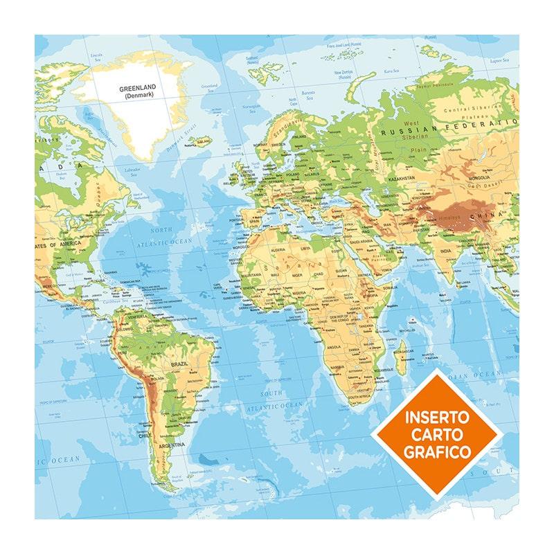 agenda settimanale pb540 inserto cartografico