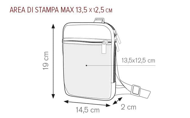 area stampa personalizzata borsello bob