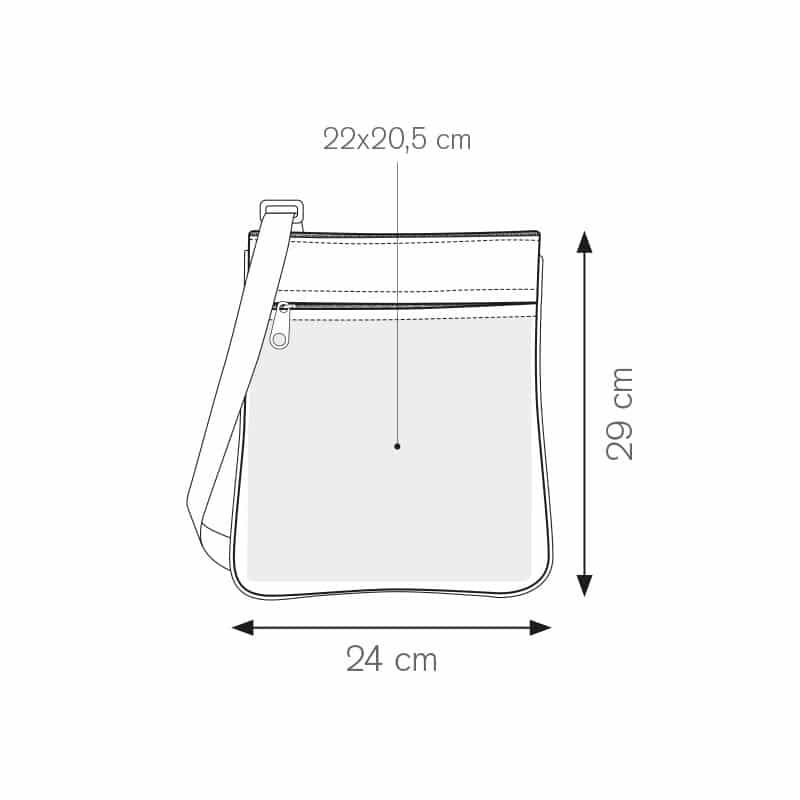 Baggy tracolla regolabile bicolore nylon 600d personalizzati - pg370 specifiche