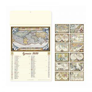 calendario illustrato antiche mappe PA012
