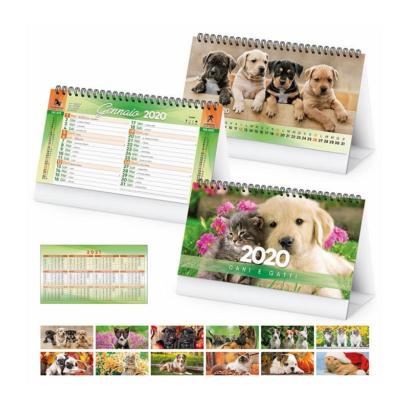 calendario illustrato cani e gatti PA403