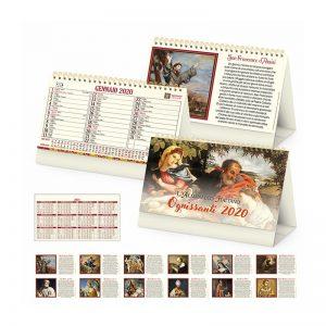 calendario illustrato da tavolo santi PA061