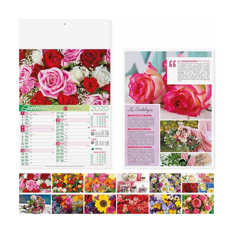 calendario illustrato fiori PA103