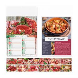 calendario illustrato olandese carni PA142
