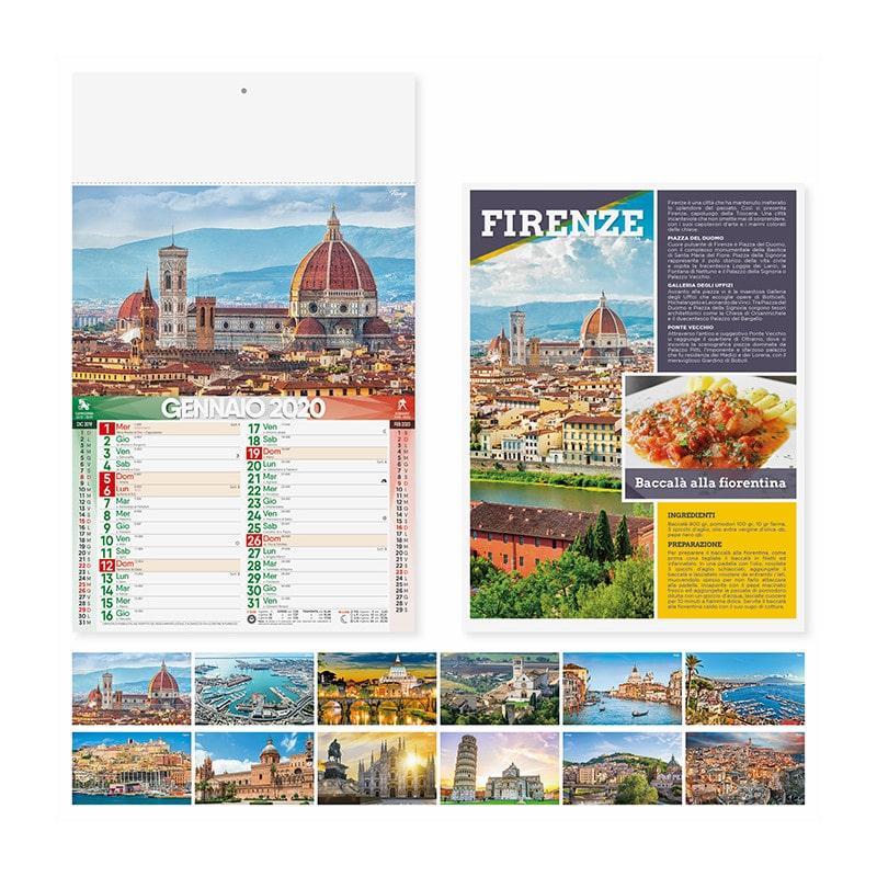 calendario illustrato olandese citta d italia PA117