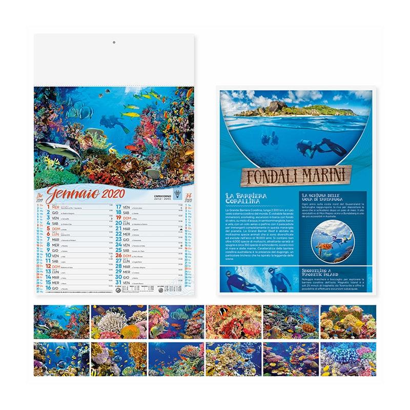 calendario illustrato olandese fondali marini PA120