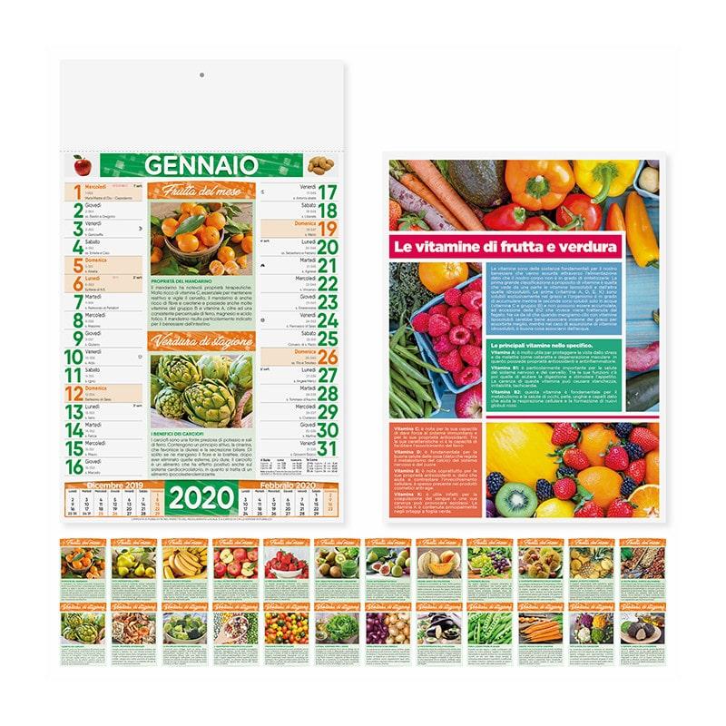 calendario illustrato olandese frutta e verdura PA146