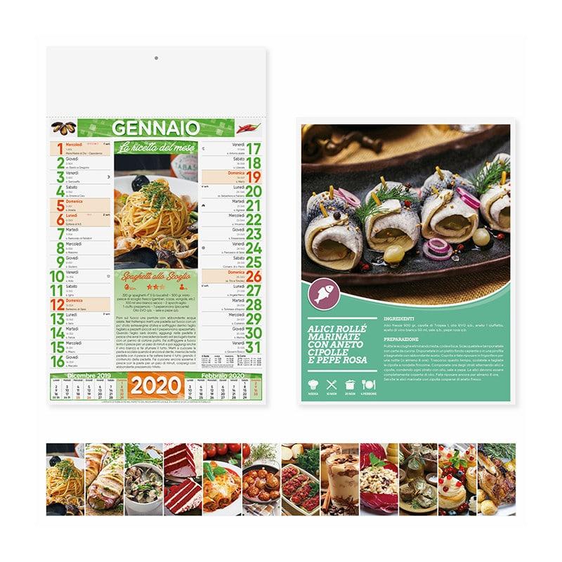calendario illustrato olandese gastronomia PA132