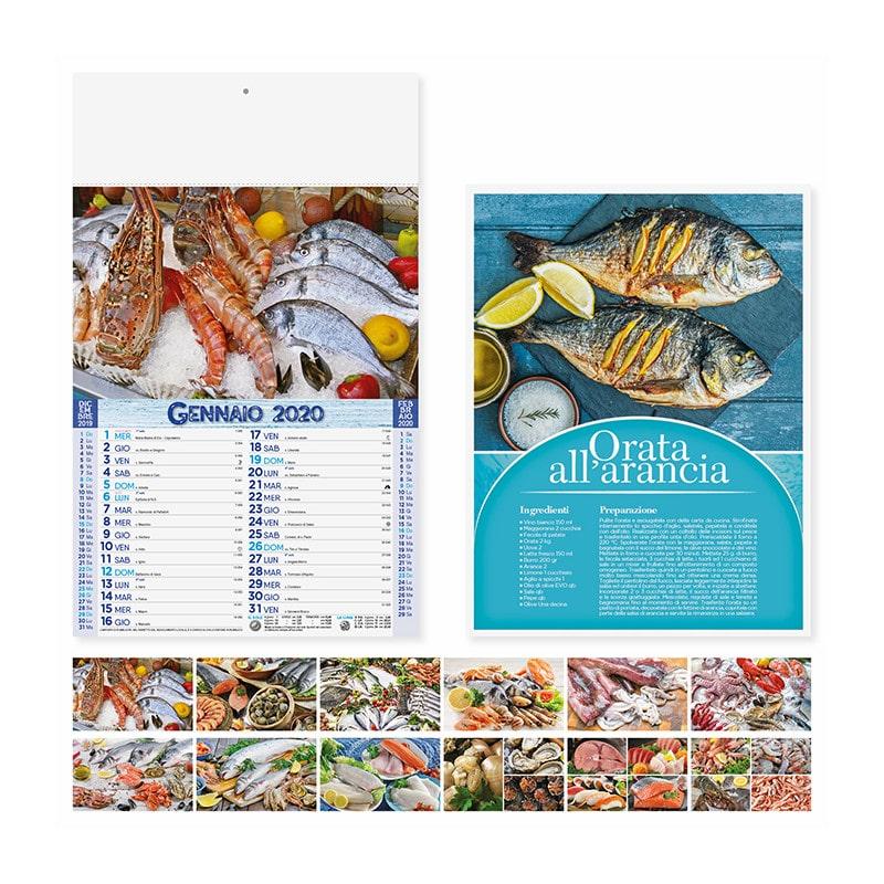 calendario illustrato olandese mare in tavola PA144
