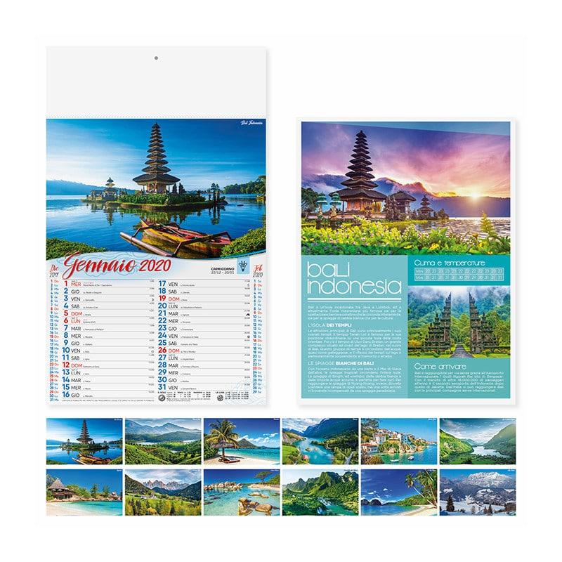 calendario illustrato olandese paesaggi PA120