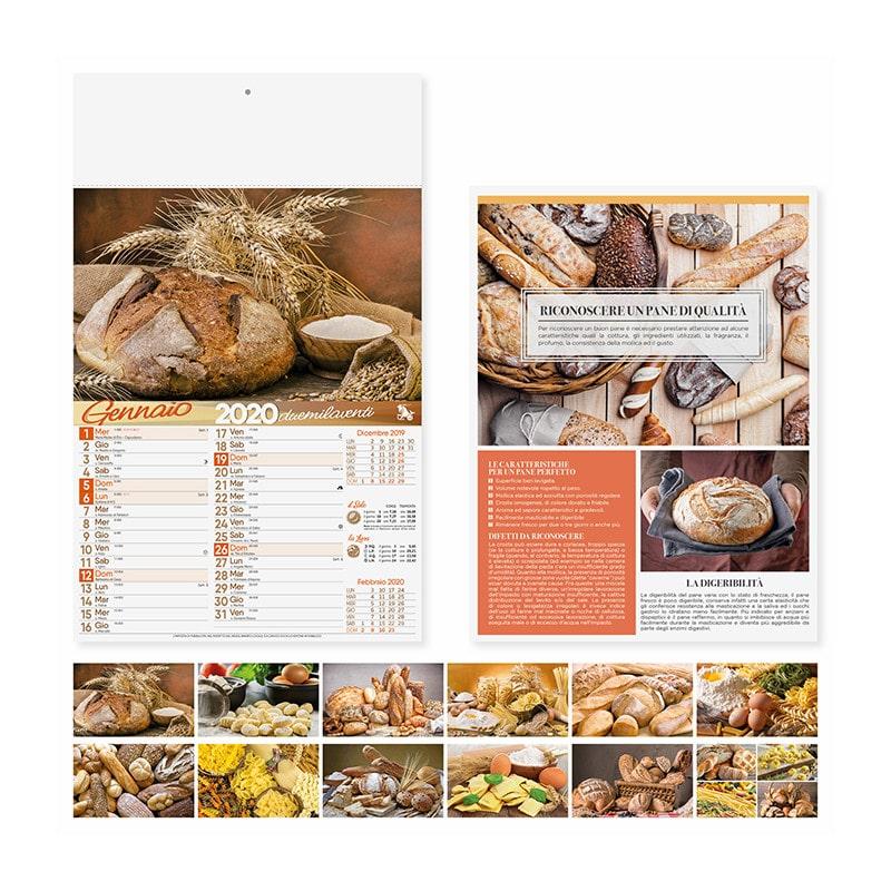 calendario illustrato olandese pane e pasta PA138
