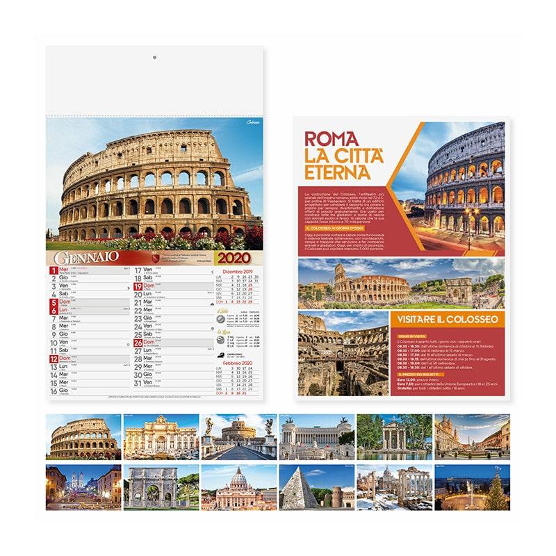 calendario illustrato olandese roma PA109