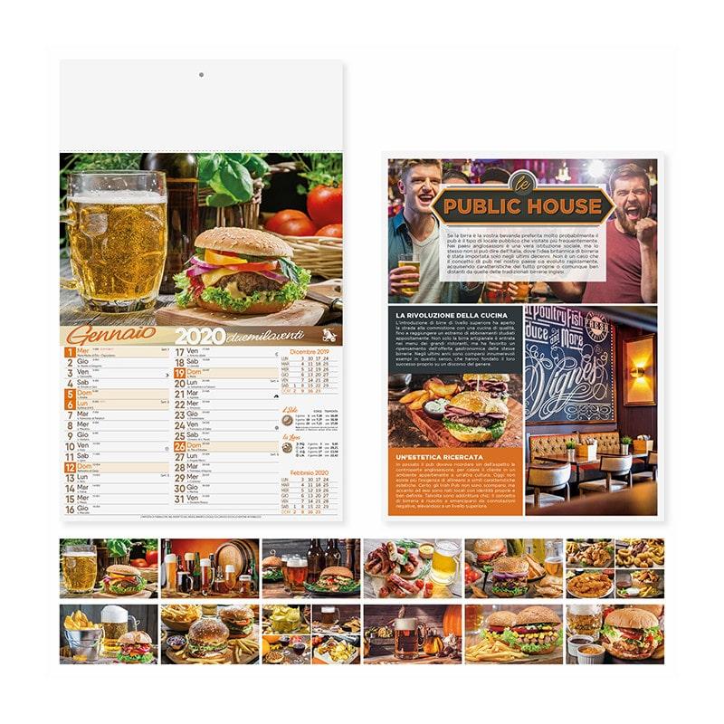 calendario illustrato pub birra PA131