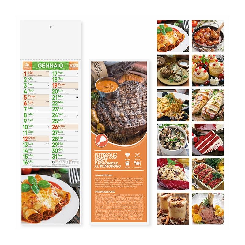 calendario illustrato silhouette gastronomia PA187