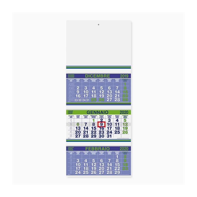 calendario trittico fluo PA500VE