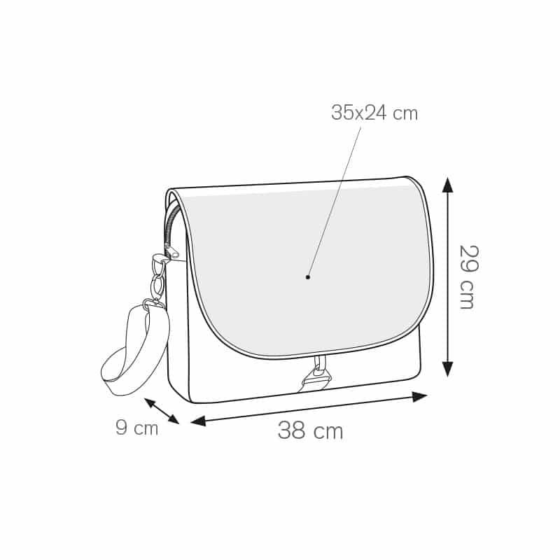 Cosmos borsa portadocumenti personalizzati - ph216 misure tecniche