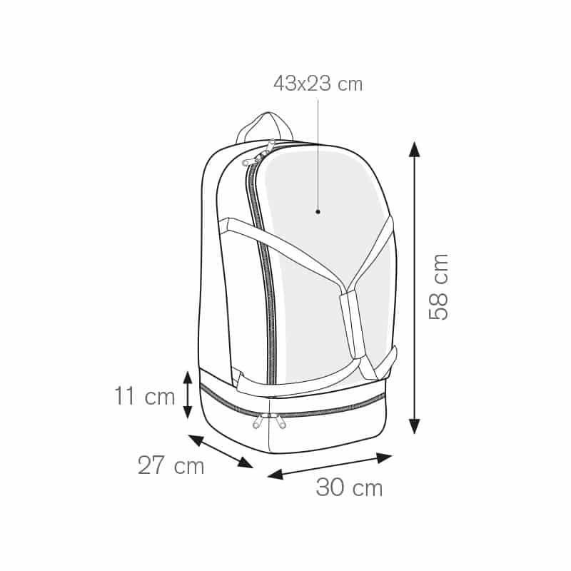 Crawl zaino sport nylon 600d personalizzati - pg281 specifiche