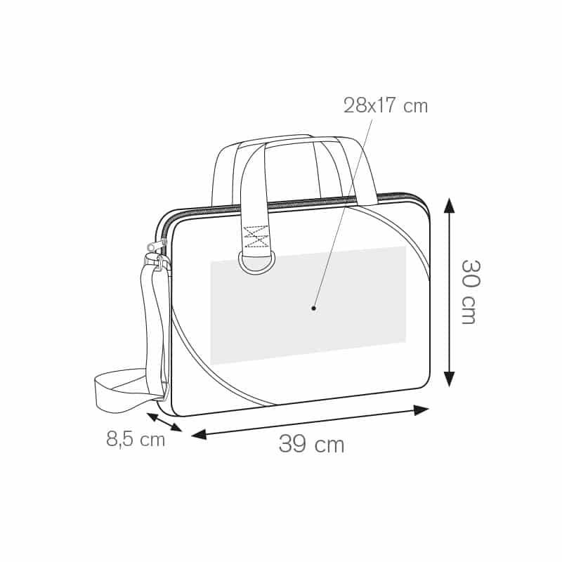Document borsa portadocumenti nylon 600d personalizzati - ph228 misure tecniche