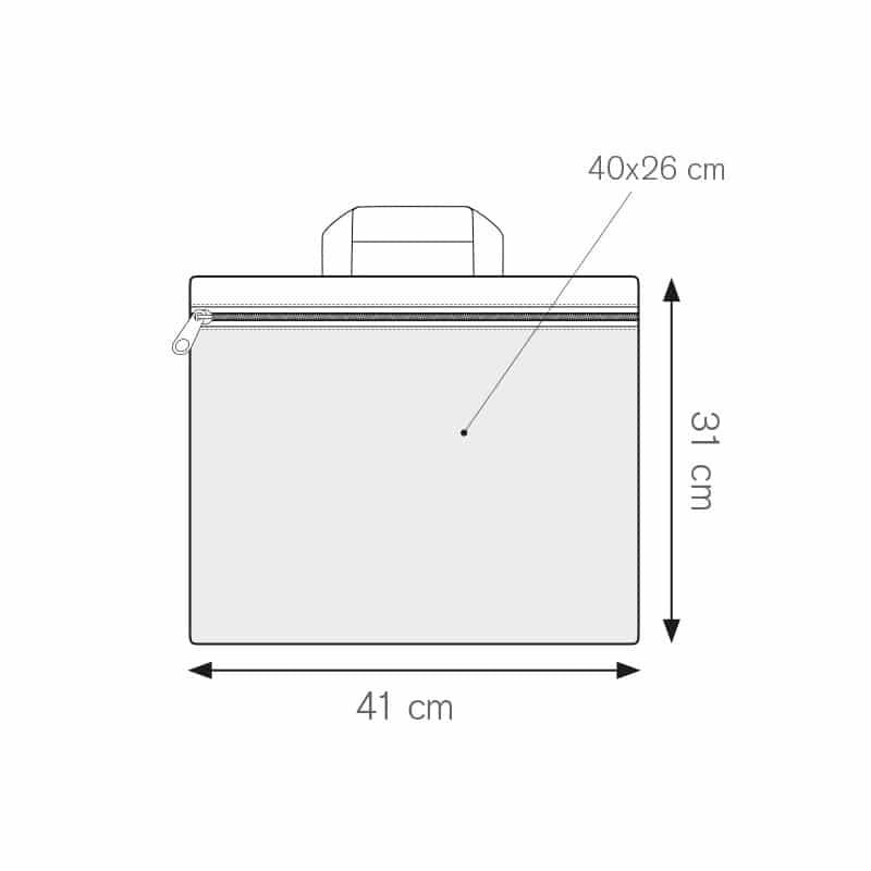 Dox borsa portadocumenti personalizzati - ph252 misure tecniche