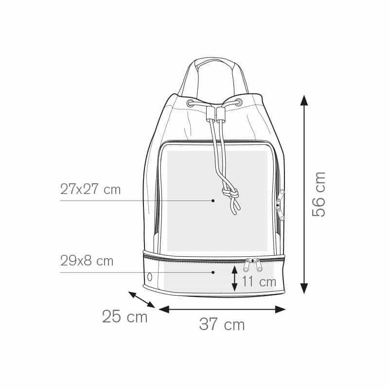 Equipe sacca zaino nylon 600d personalizzati - pg274 specifiche