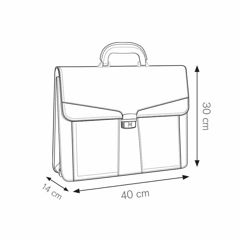 Fashion cartella portadocumenti a scomparti personalizzati - ph102 misure tecniche