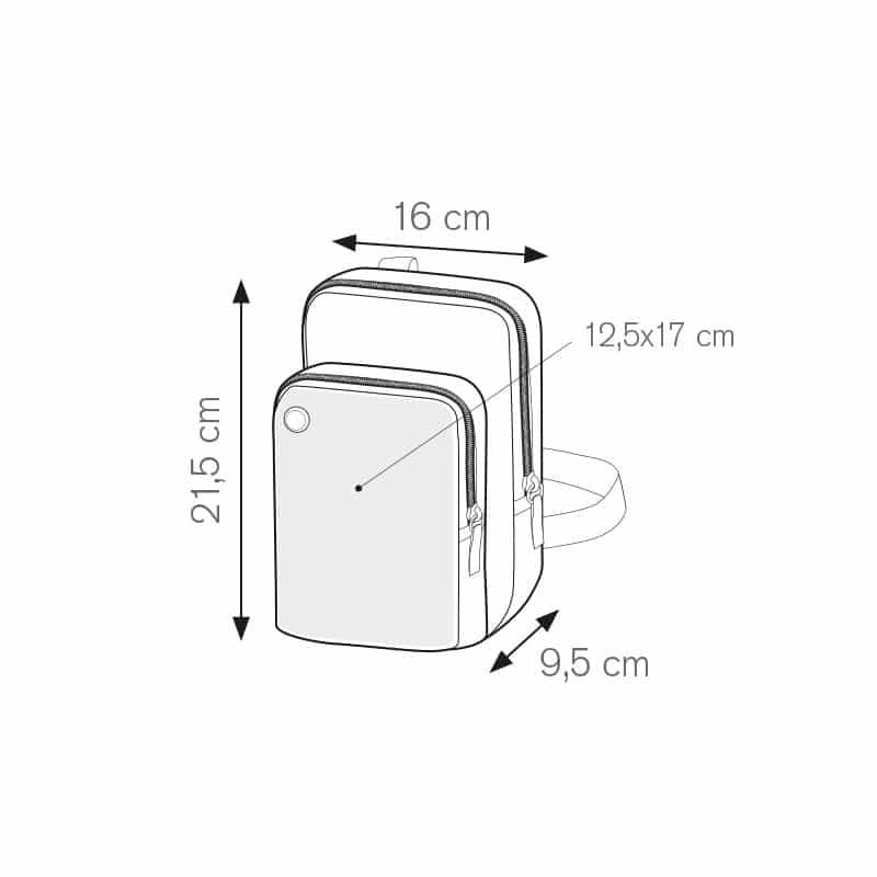Friend borsello tempo libero nylon 600d personalizzati - pg345 specifiche