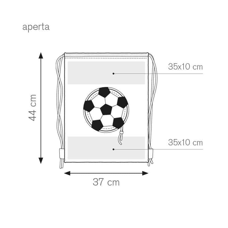 Goal sacca zaino bicolore nylon 190t personalizzati - pg279 specifiche