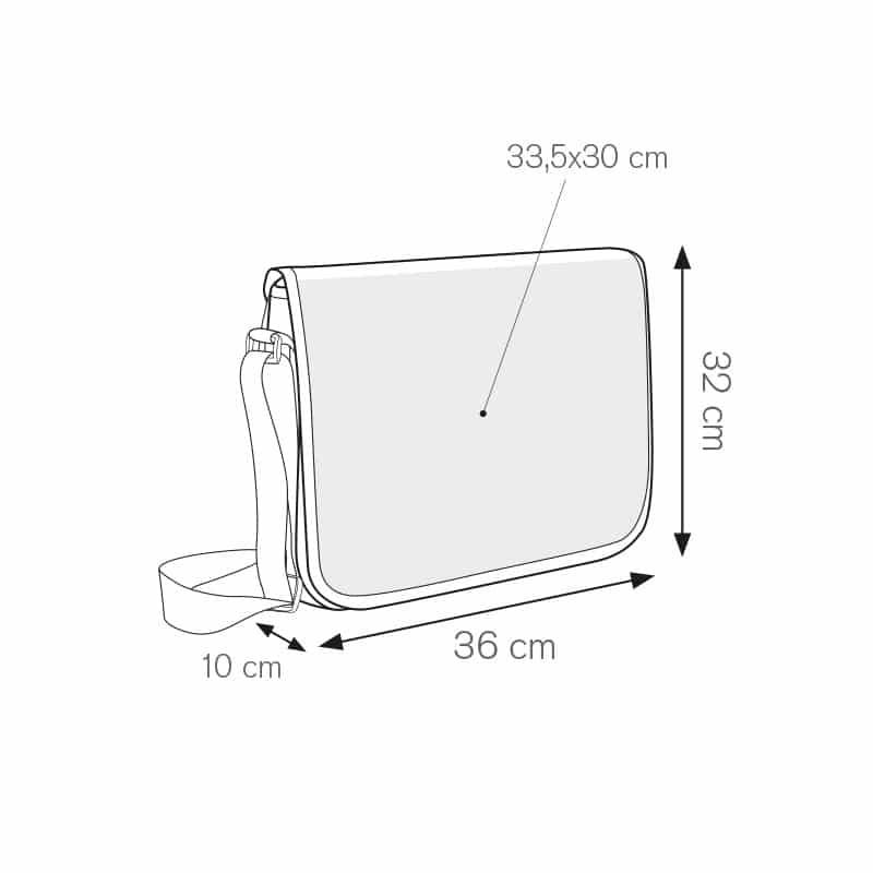 Heasy borsa portacomputer imbottita personalizzati - ph215 misure tecniche