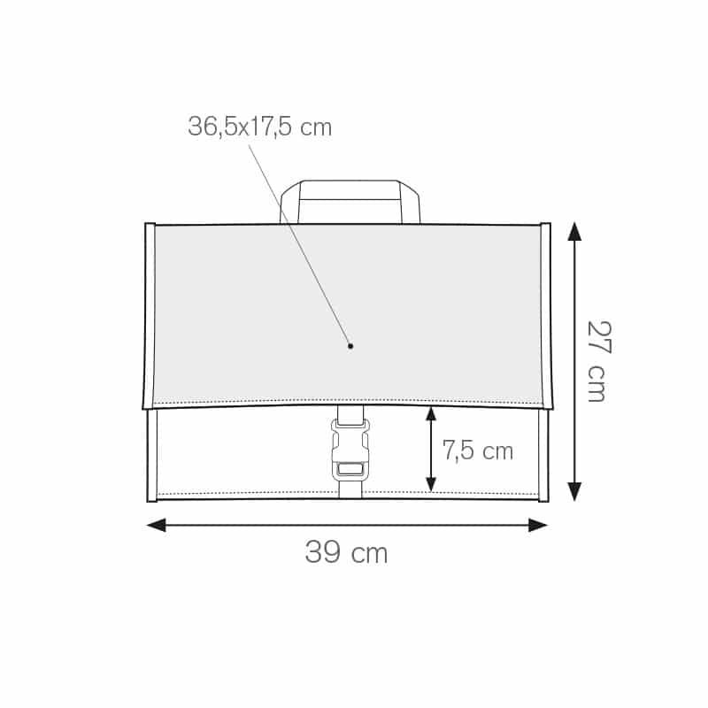 Institute cartella portadocumenti nylon 600d personalizzati - ph258 misure tecniche