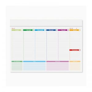 mini planning multicolor personalizzato pa806