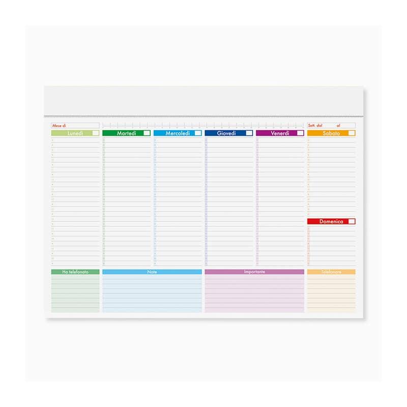 mini planning multicolor personalizzato pa806