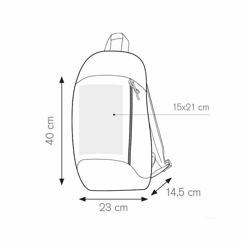 Simply zaino in nylon 600d personalizzati - pg290 specifiche