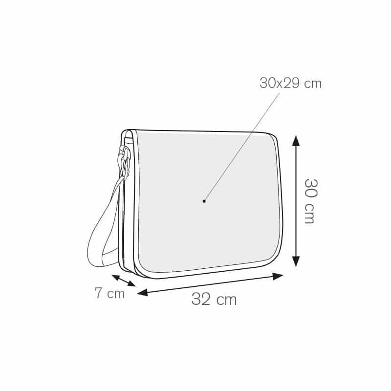 Stanford borsa portadocumenti bicolore nylon 600d personalizzati - ph238 misure tecniche