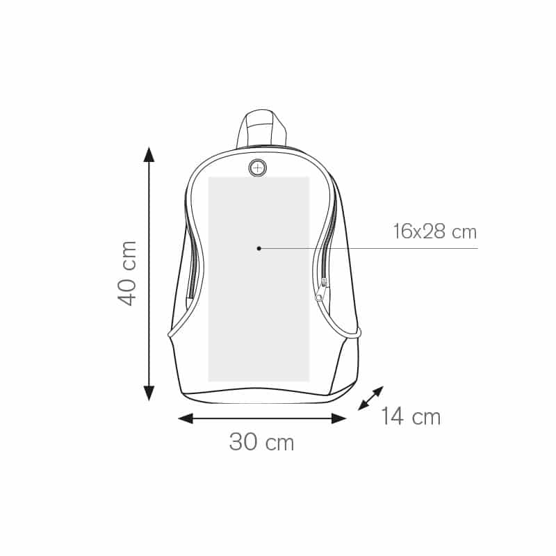 Style zaino bicolore nylon 600d personalizzati - pg238 specifiche