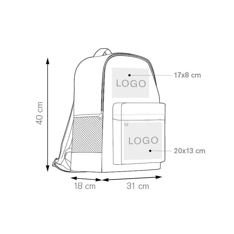 Track zaino nylon 600d personalizzati - pg300 specifiche