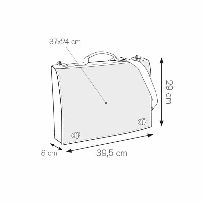 Valley borsa portadocumenti nylon 600d personalizzati - ph234 misure tecniche