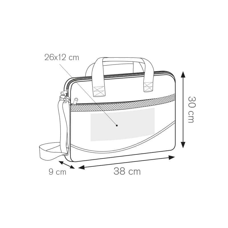 Yale borsa portadocumenti nylon 600d personalizzati - ph226 misure tecniche