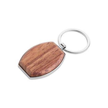 Portachiavi personalizzati - Oval wood - PE070