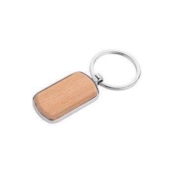 Portachiavi personalizzati - Rectangle wood - PE072