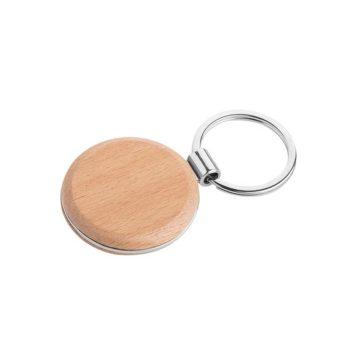 Portachiavi personalizzati - Round wood - PE074
