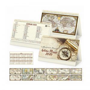 calendario tavolo antiche mappe PA062