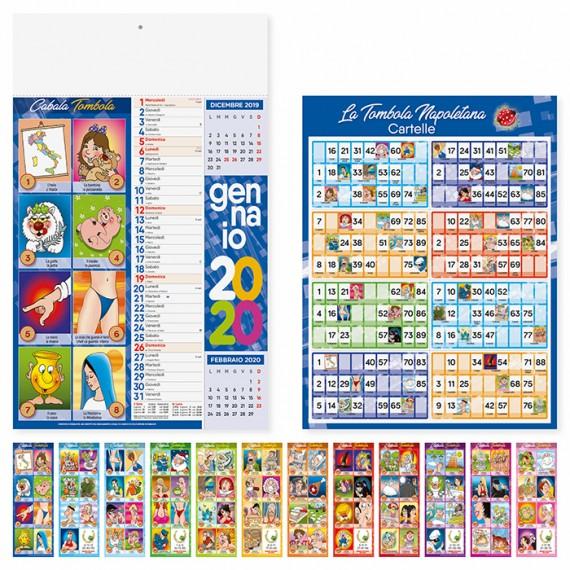 """Calendario 29 x 47 cm Illustrato """"CABALA"""" personalizzato con il tuo logo - PA114"""
