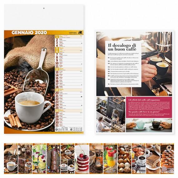 """Calendario 29 x 47 cm Illustrato """"COFFEE & LOUNGE BAR"""" personalizzato con il tuo logo - PA148"""