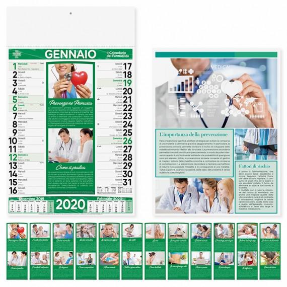 """Calendario 29 x 47 cm Illustrato """"FARMACIA"""" personalizzato con il tuo logo - PA154"""