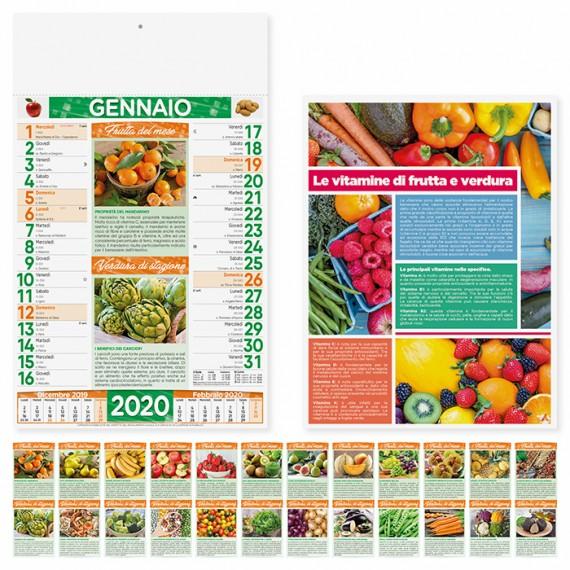 """Calendario 29 x 47 cm Illustrato """"FRUTTA E VERDURA"""" personalizzato con il tuo logo - PA146"""