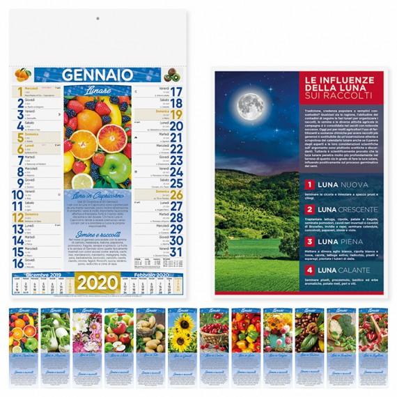 """Calendario 29 x 47 cm Illustrato """"LUNARIO"""" personalizzato con il tuo logo - PA152"""