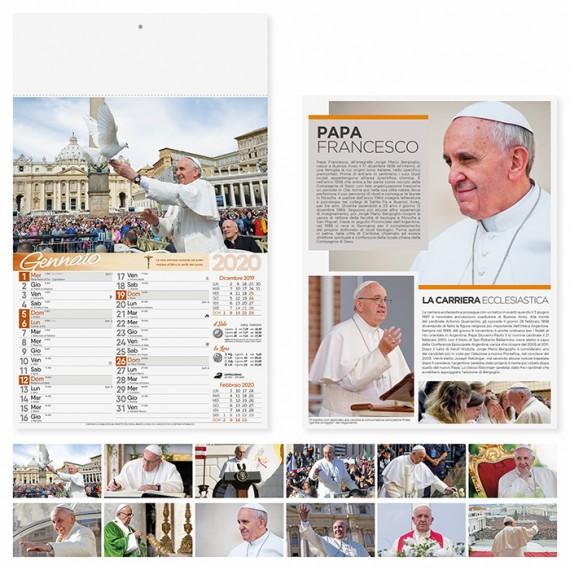 """Calendario 29 x 47 cm Illustrato """"PAPA FRANCESCO"""" personalizzato con il tuo logo! - PA101"""